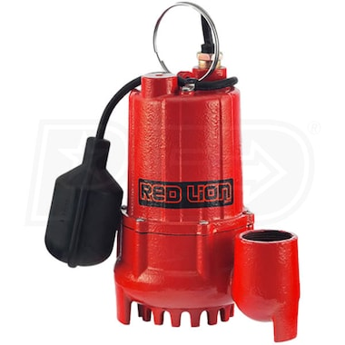 Red Lion RL-SC50T - 1/2 HP Cast Iron Submersible Sump Pump w/ Tether Float Switch