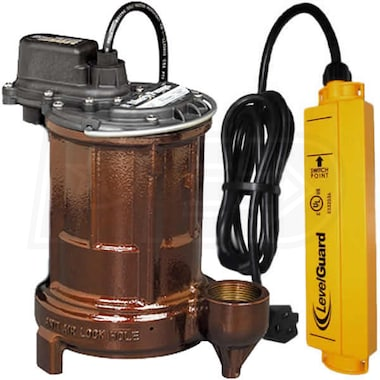 Liberty Pumps 250 - 1/3 HP Cast Iron Submersible Sump Pump w/ LevelGuard� Switch