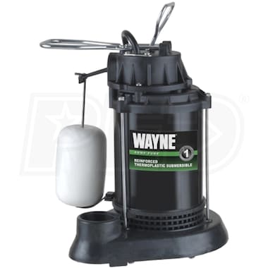 Wayne SPF33 - 1/3 HP Thermoplastic Submersible Sump Pump w/ Vertical Float Switch