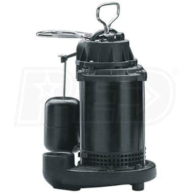 Wayne CDU800 - 1/2 HP Cast Iron Submersible Sump Pump w/ Vertical Float Switch
