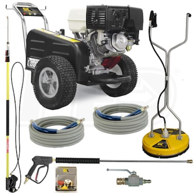BE Professional 3500 PSI Belt-Drive (Gas-Cold Water) Start Your Own Pressure Washing Business Kit w/ CAT Pump & Honda Engine
