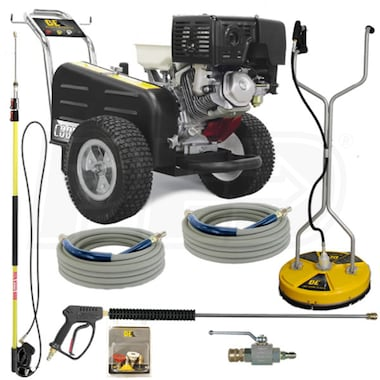 BE Professional 3500 PSI Belt-Drive (Gas-Cold Water) Start Your Own Pressure Washing Business Kit w/ Honda Engine