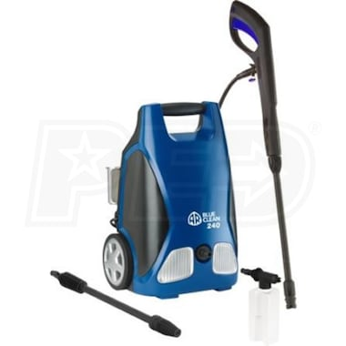 AR Blue Clean 1750 PSI (Electric-Cold Water) Pressure Washer w/ Turbo