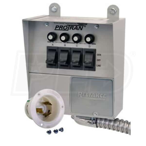Reliance Controls 30-Amp (120V 4-Circuit) Indoor Transfer Switch ...